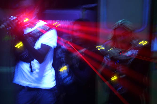 Playing Laser Tag in Chicago